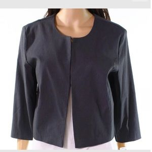 Tribal Gray Carbon Jewel Neck Clasp Front Jacket